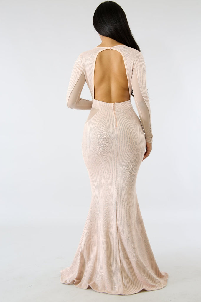 Glam Sparkle Mermaid Maxi Dress