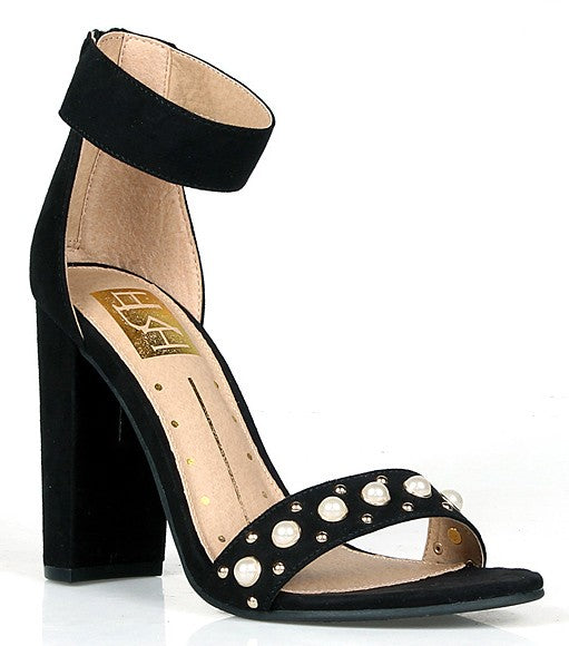 Rosa Black Single Sole Heel