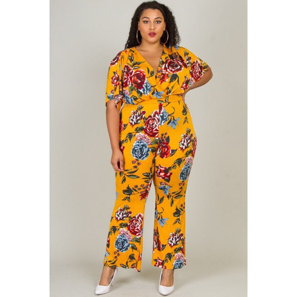 PLUS SIZE Mustard Yellow Jumpsuit