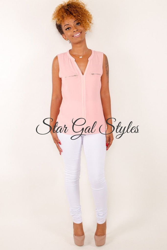Roxy Rose V-Neck Sleeveless Blouse