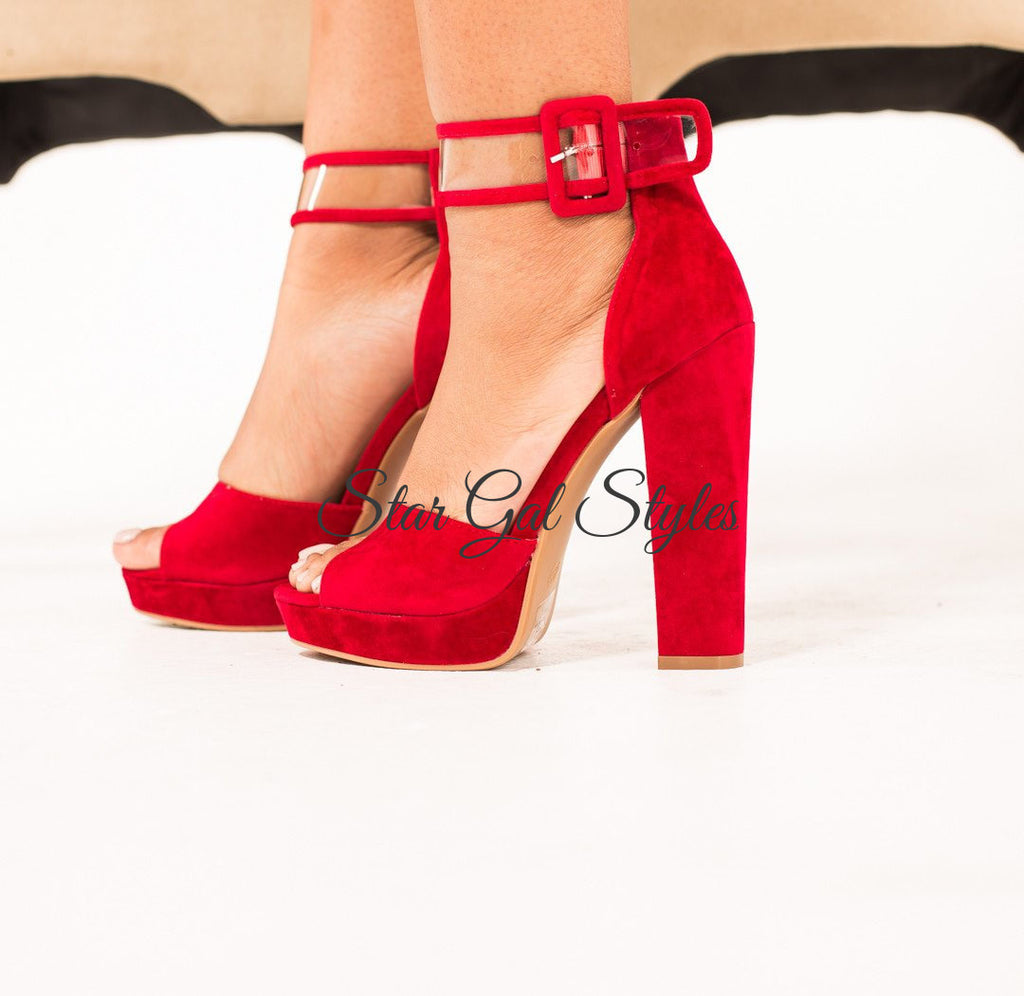Cruel Affairs Red Platform Heel