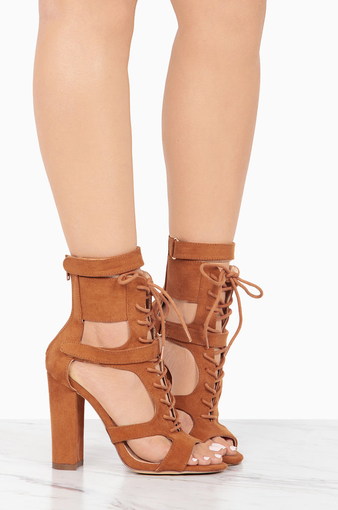 Cindy Tan Cut-out Bootie