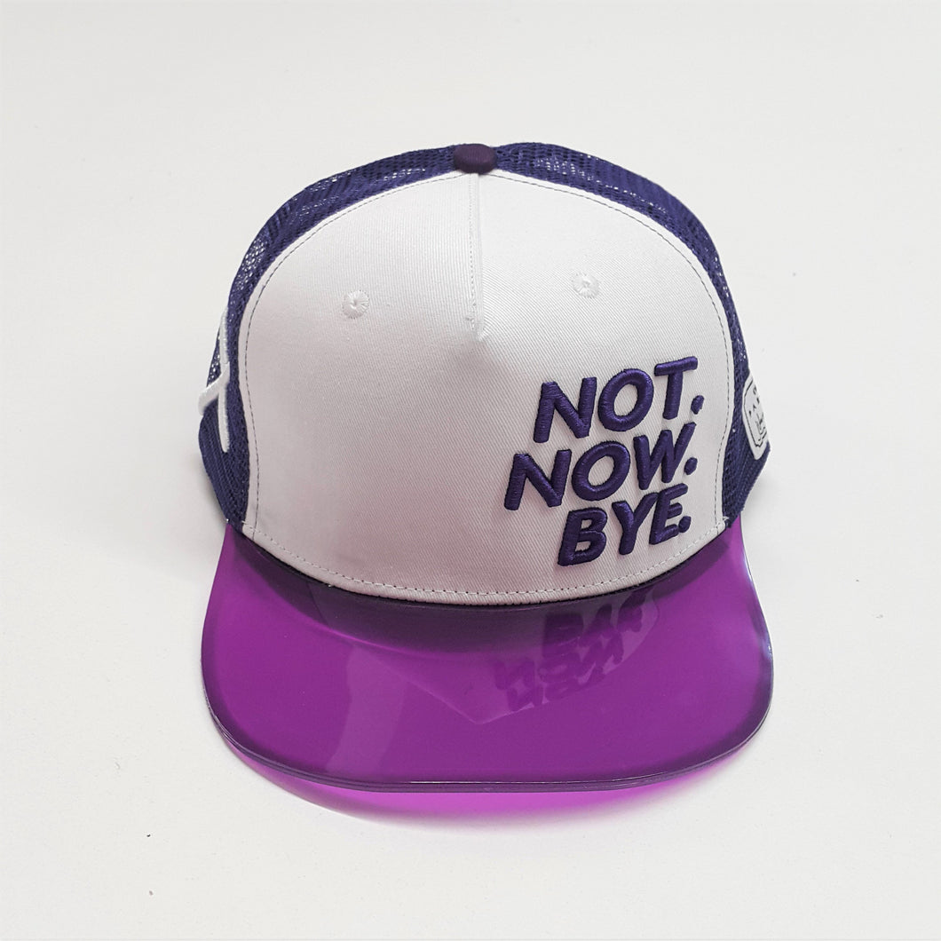 NOT NOW BYE Snapback Hat Apparel