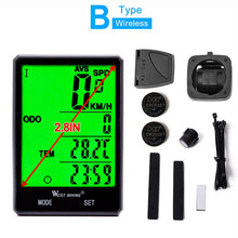 "(New Arrival) WEST BIKING 2.8"" Large Screen Water Resistance Bicycle Odometer Accessories"