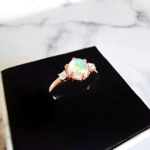 Iris Ring (Natural Opal), Rings - Thoughts Accessories