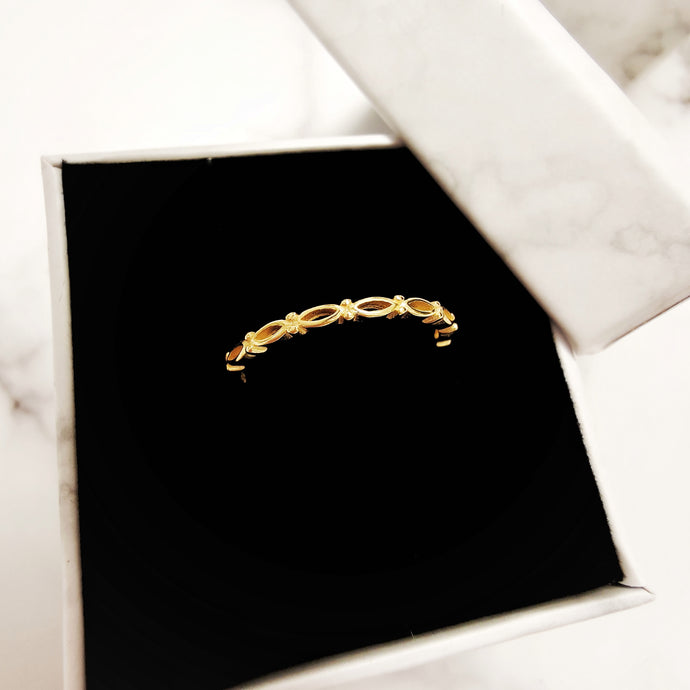 Ellipse Stacking Ring (Platinum and 18k Gold) - Thoughts Accessories