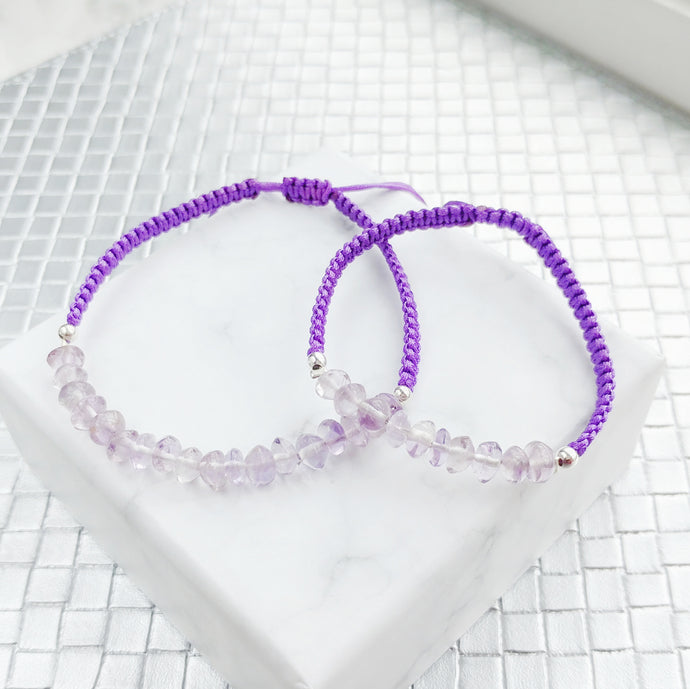 Serenity Mother and Daughter Matching Gemstone Braided Bracelets - Thoughts Accessories