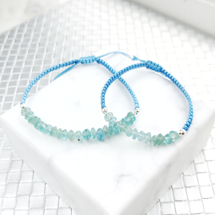 Hope Mother and Daughter Matching Gemstone Braided Bracelets, Bracelets - Thoughts Accessories