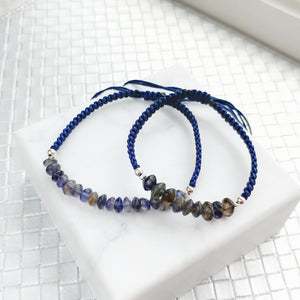 Clarity Mother and Daughter Matching Gemstone Braided Bracelets, Bracelets - Thoughts Accessories