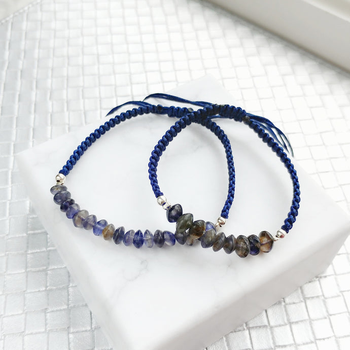 Clarity Mother and Daughter Matching Gemstone Braided Bracelets - Thoughts Accessories