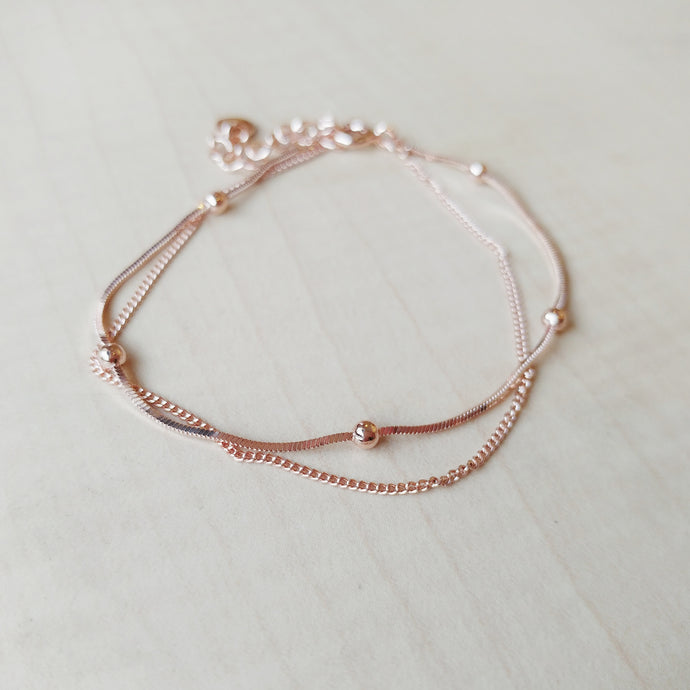 Eden Rose Gold Bracelet, Bracelets - Thoughts Accessories