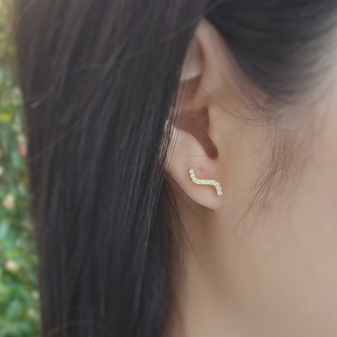Wave Earrings, Earrings - Thoughts Accessories