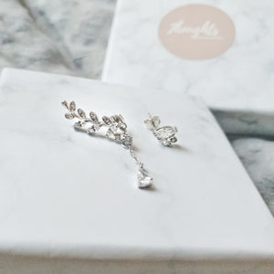 Bloom Asymmetrical Earrings, Earrings - Thoughts Accessories