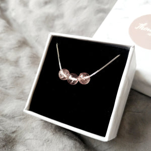 Sweetheart Necklace (Strawberry Quartz), Necklaces - Thoughts Accessories
