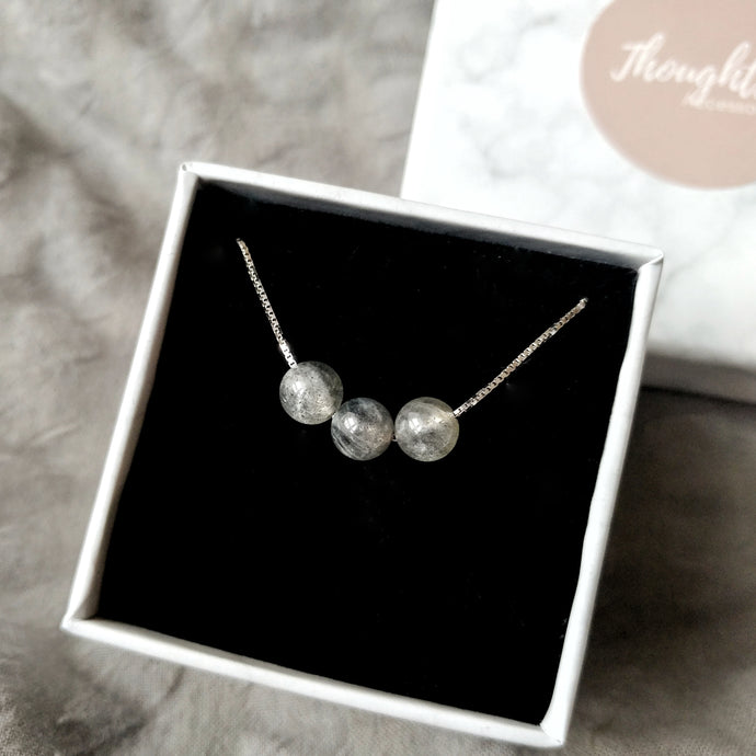 Serene Necklace (Moonstone), Necklaces - Thoughts Accessories