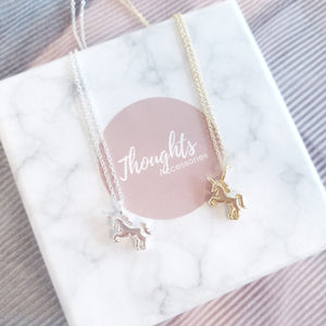 Dainty Unicorn Pendant Necklace, Necklaces - Thoughts Accessories