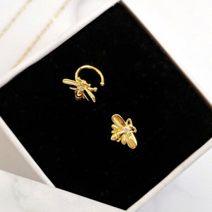 Gold Bee Ear Cuffs, Earrings - Thoughts Accessories