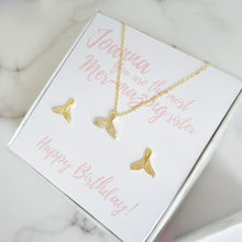 Personalised Birthday Gift Box - Mermaid Tail Necklace and Earrings Set, Necklaces - Thoughts Accessories