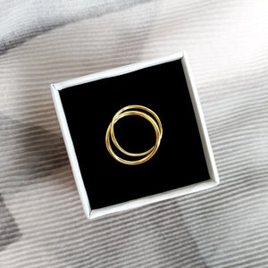 Locked Hoops Ring - Thoughts Accessories