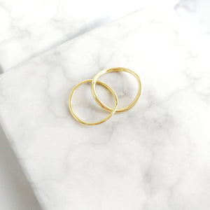 Locked Hoops Ring, Rings - Thoughts Accessories