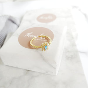 Azure Ring, Rings - Thoughts Accessories