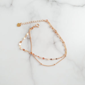 Couplet Rose Gold Bracelet, Bracelets - Thoughts Accessories