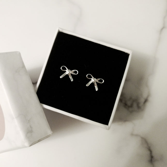 Dainty Ribbon Earrings, Earrings - Thoughts Accessories
