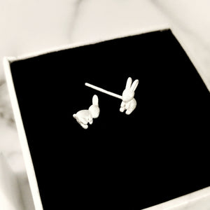 Dainty Bunny Earrings, Earrings - Thoughts Accessories