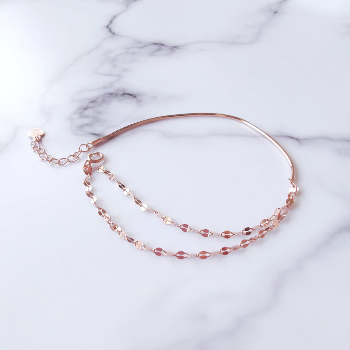 Duet Rose Gold Bracelet, Bracelets - Thoughts Accessories