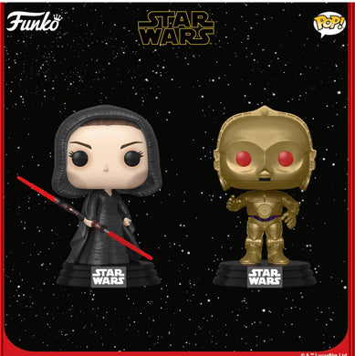 Pop! Star Wars: ROS - Dark Rey/C-3PO Bundle