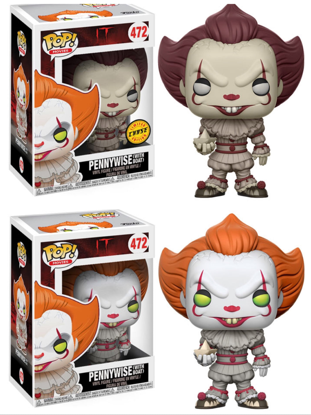 Pop! Movies: IT! - PENNYWISE (Set of 6)