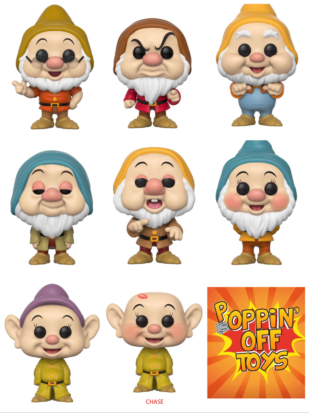 Pop! Disney: Snow White - COMPLETE BUNDLE w/Chase!