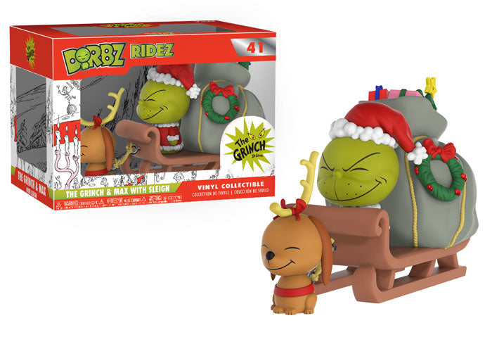 Dorbz: Dr. Seuss - The Grinch and Max on Sled