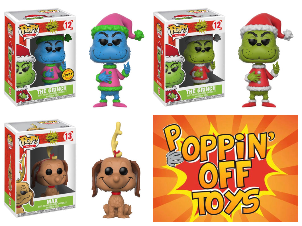 8bfc1455be7 Pop! Dr. Seuss  The Grinch - BUNDLE w CHASE! – Poppin  Off Toys