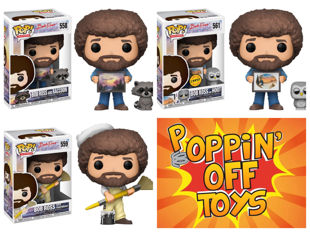 Pop! Television: BOB ROSS BUNDLE w/Chase!