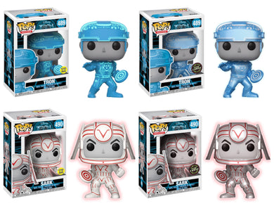 Pop! Movies: Tron - BUNDLE w/Both Chase's