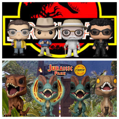 Pop! Movies: Jurassic Park - BIG BUNDLE w/Chase!