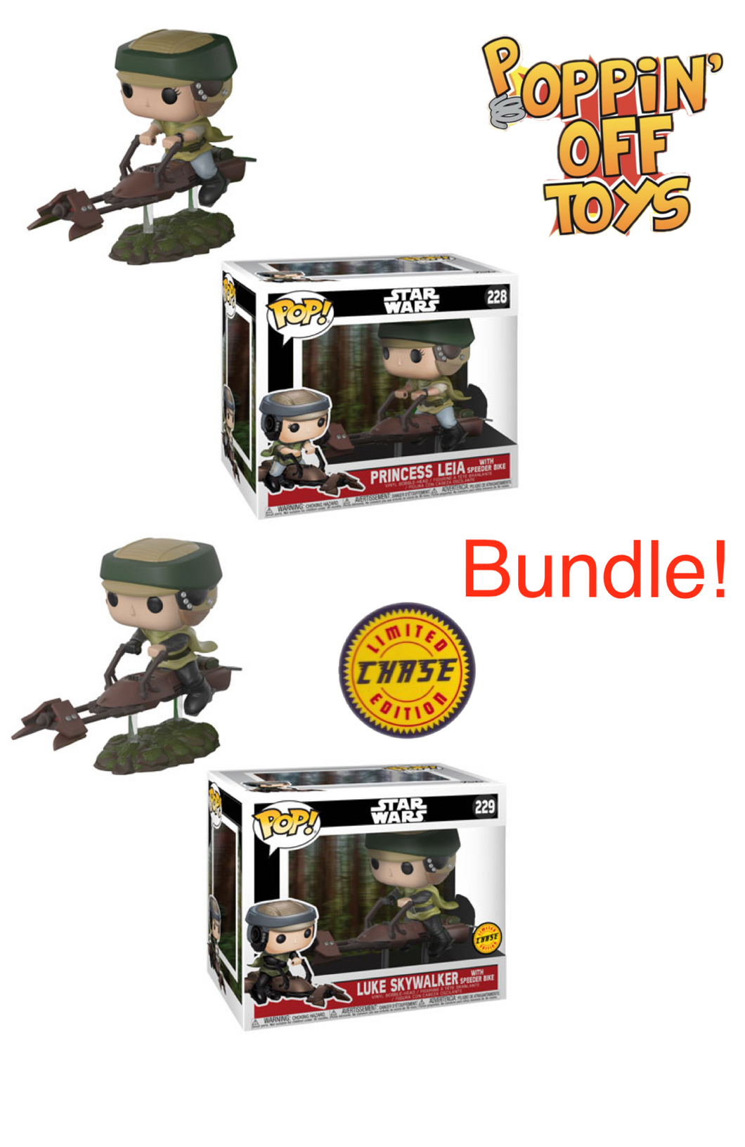 Pop Deluxe! Star Wars - Leia on Speeder BUNDLE!
