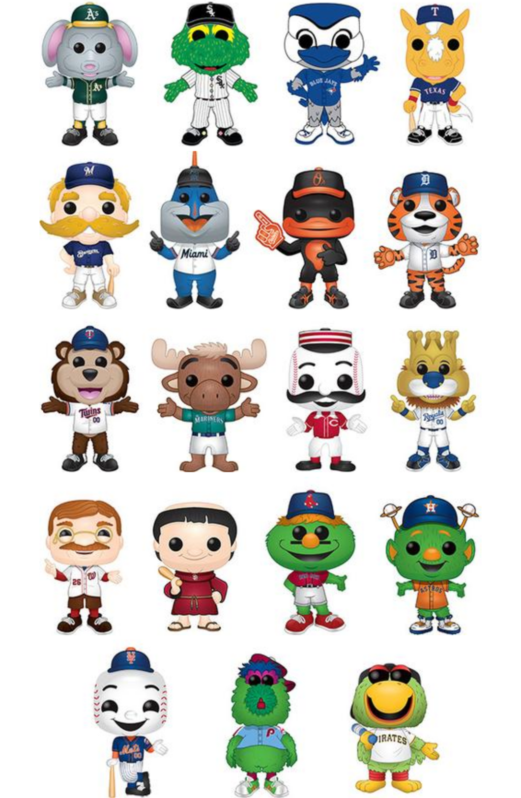 Pop! MLB Mascots - BUNDLE