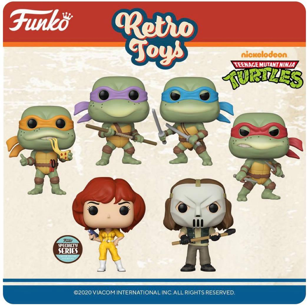 Pop! Retro Toys Wave 2: TMNT (Wave 2)
