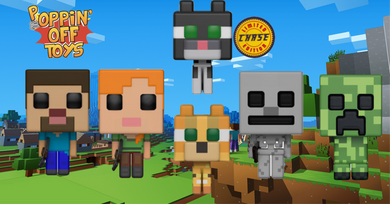 Pop! Games: Minecraft - BUNDLE w/Chase!