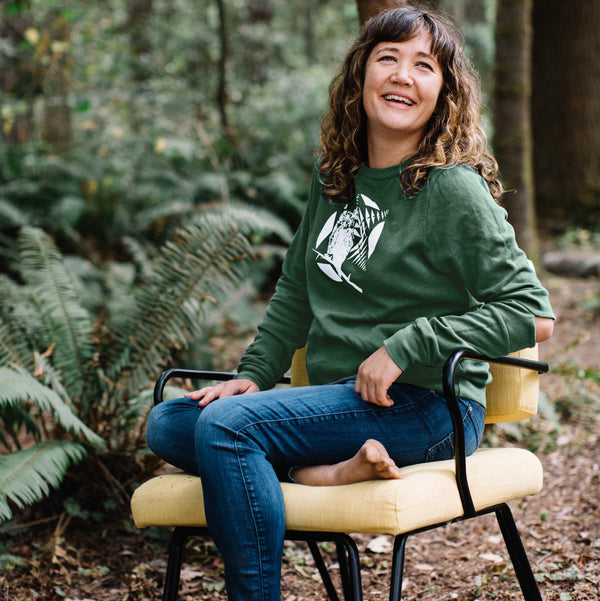 OWL Hinge Sweatshirt in EVERGREEN