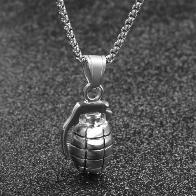 Pubg stainless steel frag granade jewelry gold and silver pendant pubg stainless steel frag granade jewelry gold and silver pendant necklace for men mozeypictures Choice Image