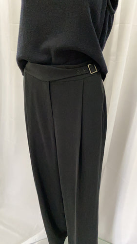 Black Angular Buckle  Trousers