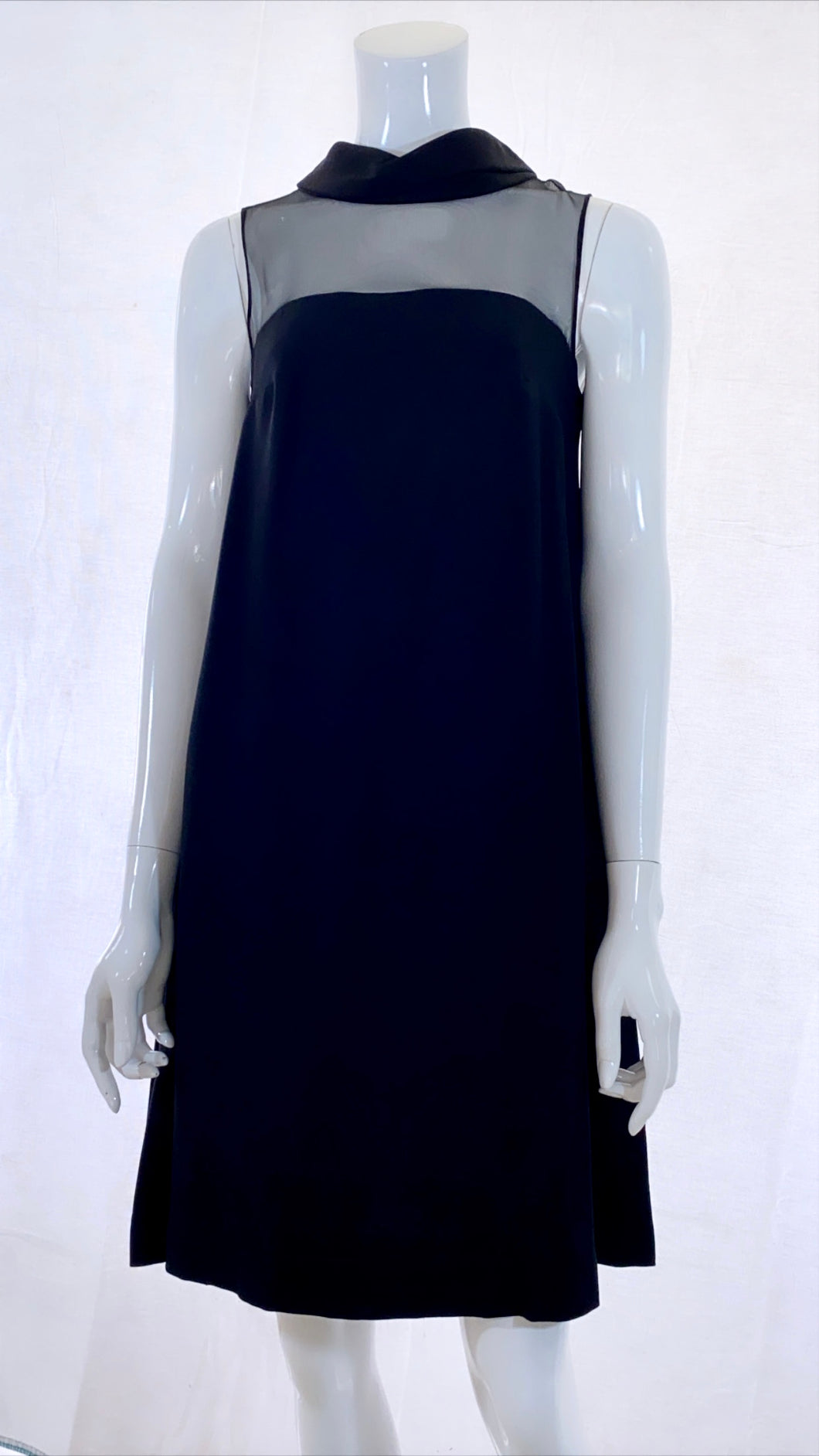 60s Black Sheer top Dress