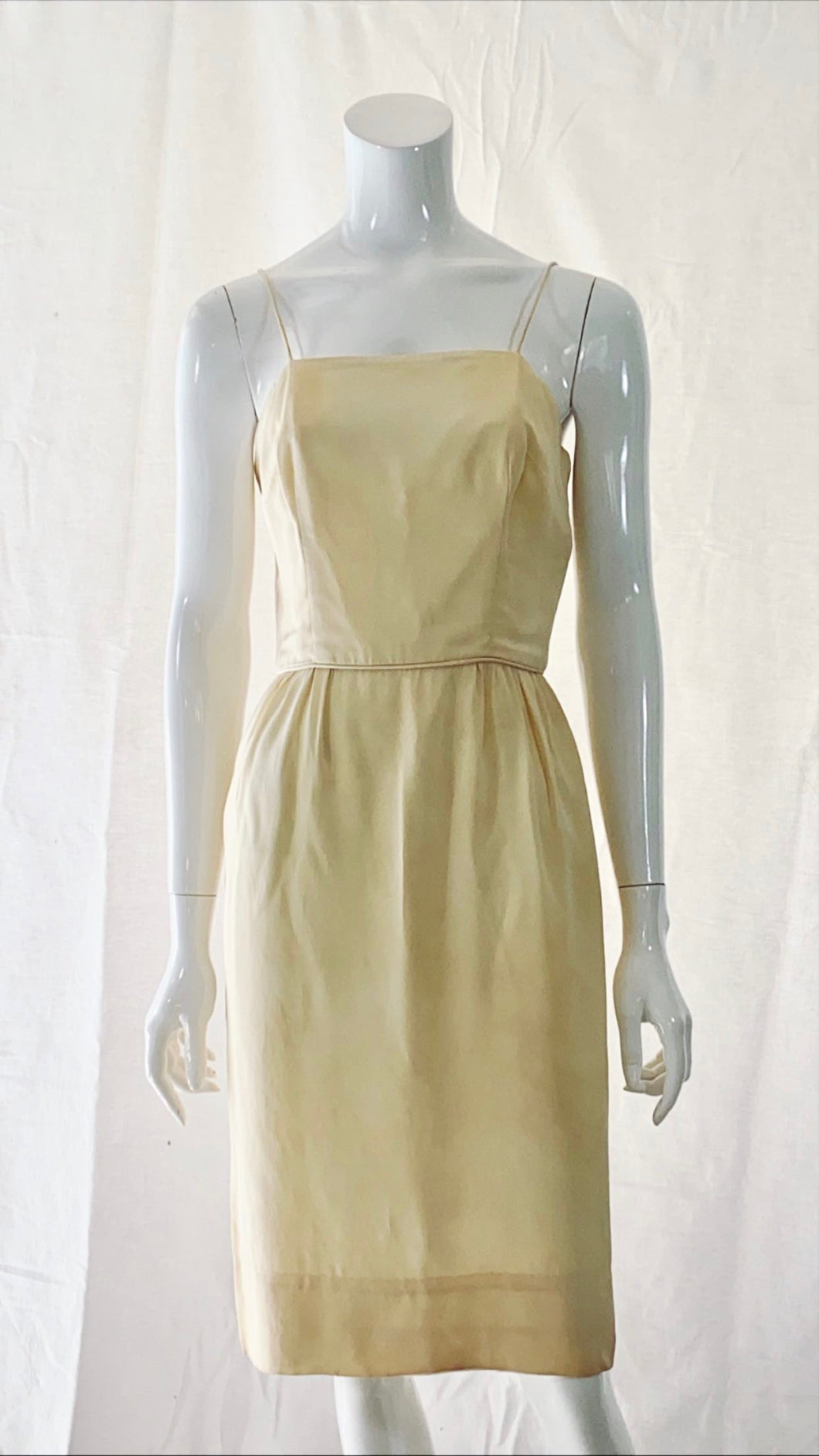 Late 50s/Early 60s Silk Wiggle Dress