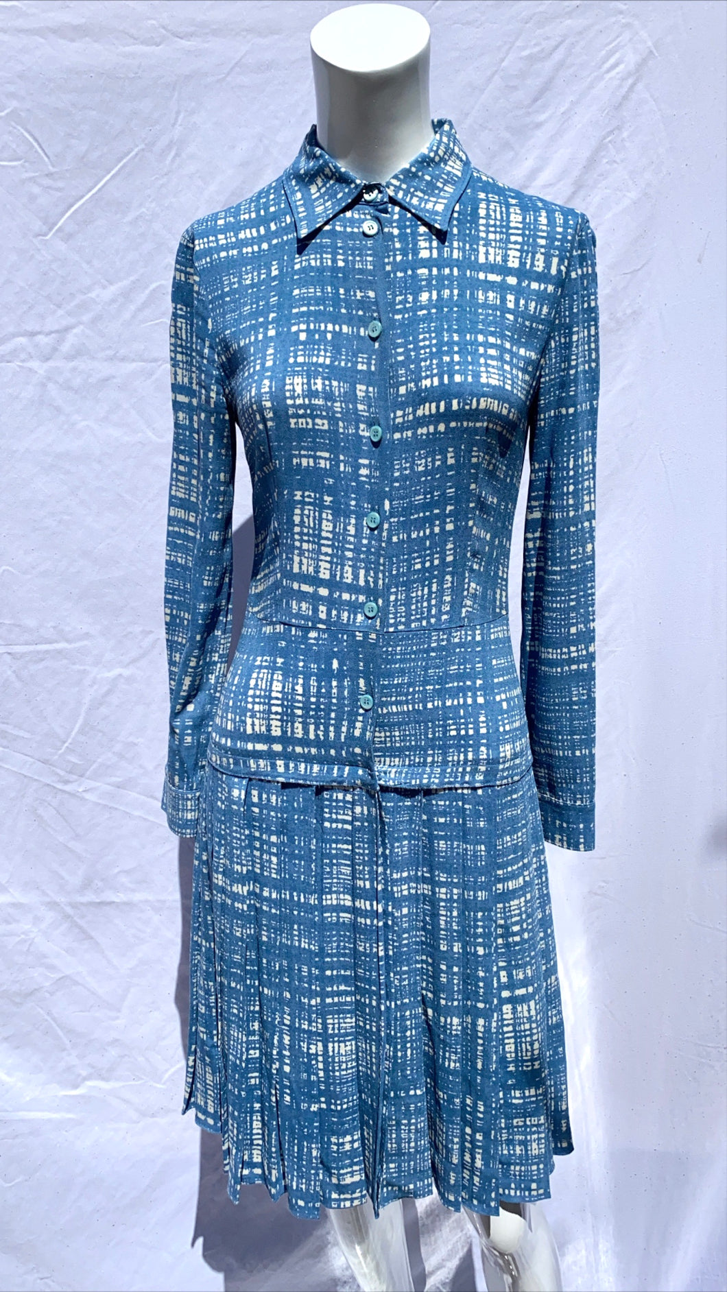 Prada Screen Print Tweed Dress
