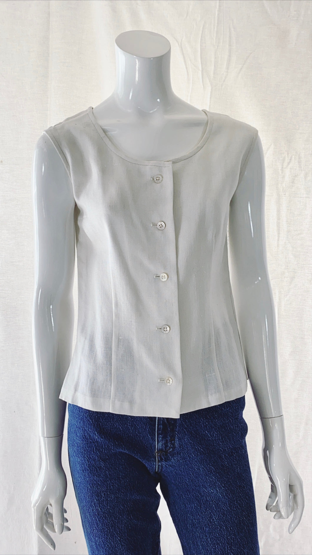 50s Moygashel Irish Linen Deadstock Blouse