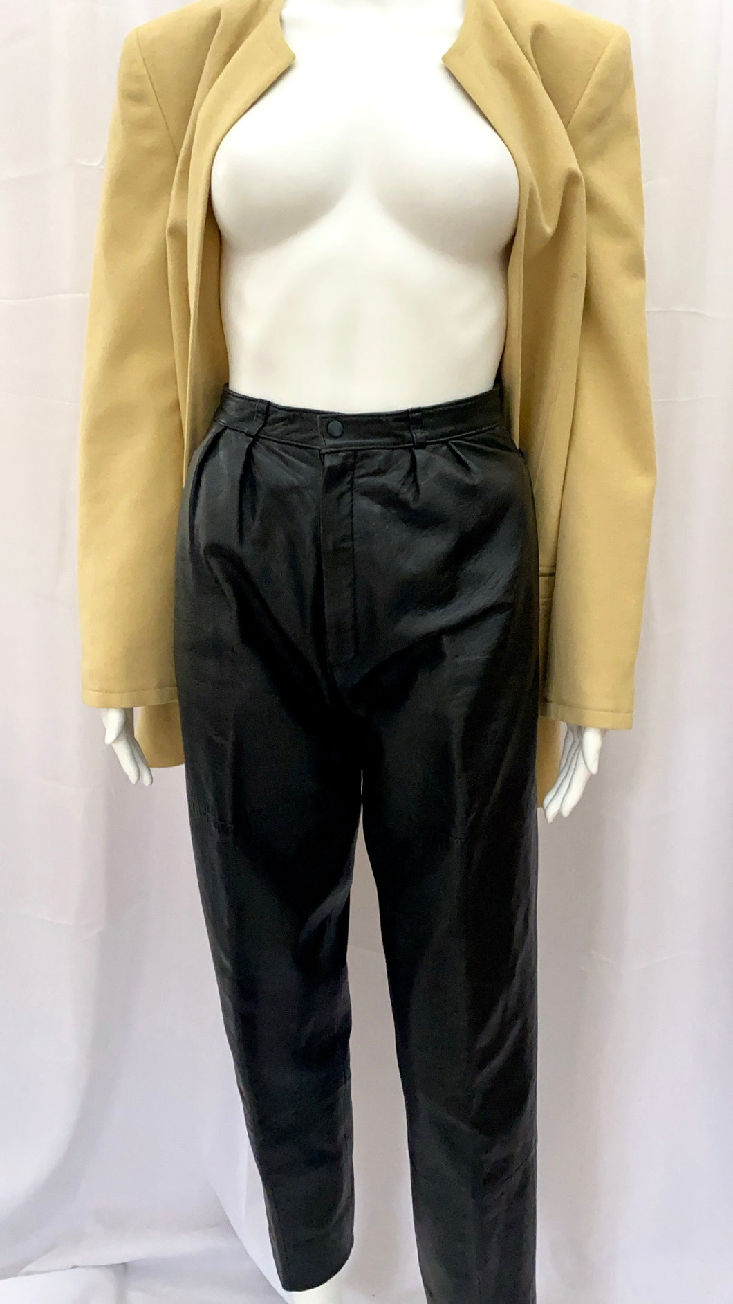 Black Leather Wilson Trousers