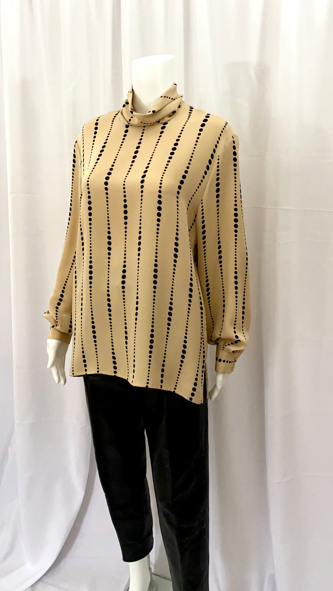 Silk Mockneck Modernist Blouse